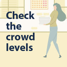 Check the crowd levels before you visit