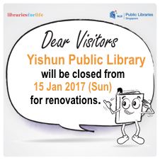 Yishun Public Library will be closing for renovations